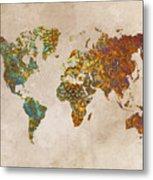 World Map Oriental Metal Print