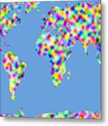 World Map Palette Metal Print