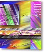 World Of Color And Superimposed Rectangles Metal Print