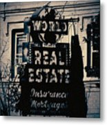 World Real Estate Chicago Metal Print