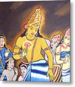 World Renowned Ajanta Painting  Metal Print