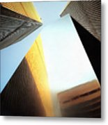 World Trade Center Towers And The Ideogram 1971-2001 Metal Print