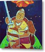 World Turtle King Of Swords Metal Print