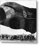 World War I: Airship Metal Print