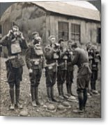 World War I: Gas Masks Metal Print