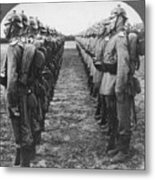 World War I: German Troop Metal Print