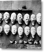 World War I Masks, 1918 - To License For Professional Use Visit Granger.com Metal Print