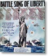 World War I: Song Sheet Metal Print