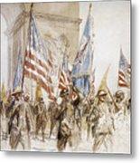 World War I: Victory Parade Metal Print