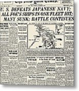 World War II: Leyte Gulf Metal Print
