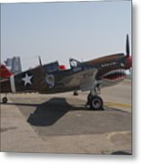 World War II Plane P-40 Thunderbolt Metal Print