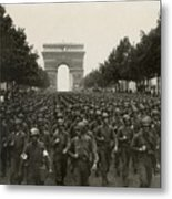 World War II. The Liberation Of Paris Metal Print