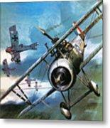 World War One Dogfight Metal Print