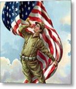 World War One Soldier Metal Print