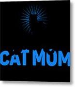 Worlds Best Cat Mom Metal Print