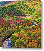 Worlds End State Park Lookout 3 - Paint Metal Print