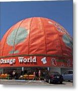 World's Largest Orange Metal Print
