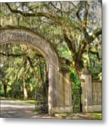 Wormsloe Gate Metal Print