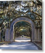 Wormsloe Gates Metal Print
