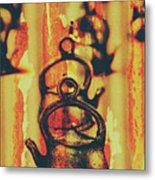 Worn And Weathered Kettles Metal Print