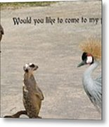 Would You Like To Come To My Party Metal Print