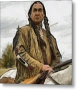 Wounded Knee Metal Print