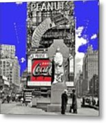 Wrapped  Fr. Duffy Statue Times Square New York Peter Sekaer Photo 1937 Color Added 2014 Metal Print
