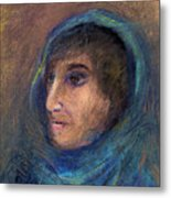 Wrapped In A Shawl Metal Print