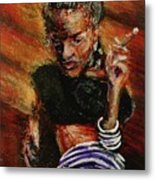 Wrapped In Smoke Metal Print