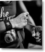 Wrapping Hands Metal Print