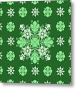Wrapping Wallpaper Floral Seamless Tile For Website Vector, Repeating Foliage Outline Floral Western Metal Print