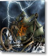 Wrath Of Kraken Metal Print