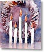 Liberty - Wreath and Candle Metal Print