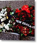 Wreaths From New Zealand And Our Navy Metal Print