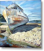 Wreck Of The Old Pt. Reyes Metal Print