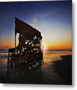 Wreck Of The Peter Iredale-b Metal Print