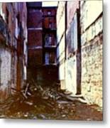 Wrecked Metal Print