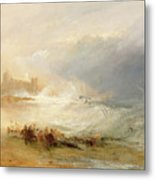 Wreckers - Coast Of Northumberland Metal Print