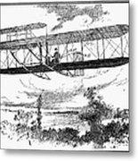 Wright Brothers Plane Metal Print