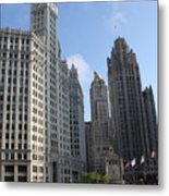 Wrigley And Tribune Tower Metal Print
