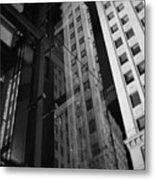 Wrigley Building Reflections Metal Print