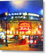 Wrigley Field Home Of Chicago Cubs Metal Print