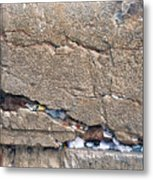 Written Prayers Western Wall Metal Print