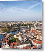 Wroclaw Cityscape In Poland Metal Print