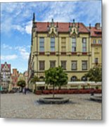 Wroclaw Market Square, New Town Hall And Tenement Houses Metal Print