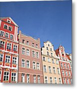 Wroclaw Old Town Houses Metal Print