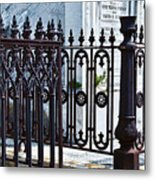 Wrought Iron Cemetery Fence Metal Print