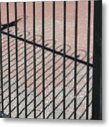Wrought-iron Gate And Shadows Metal Print