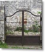 Wrought Iron Gate Metal Print