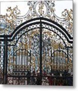 Wrought Iron Gate Metal Print